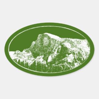 Cita de Yosemite Pegatina Ovalada