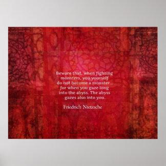 Cita del abismo de Nietzsche Posters