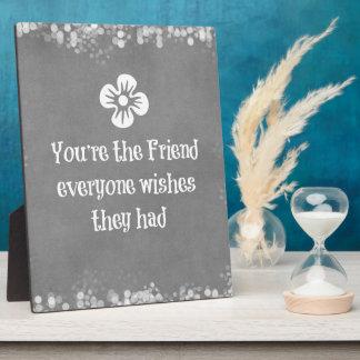 Cita del amigo placa para mostrar