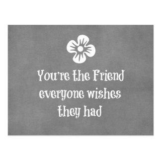 Cita del amigo tarjetas postales