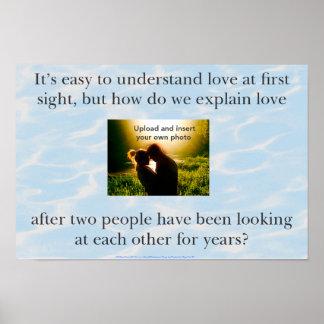 Cita del amor con la foto póster
