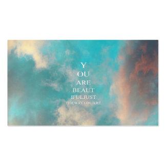Cita del amor del azul de cielo del trullo tarjetas de visita