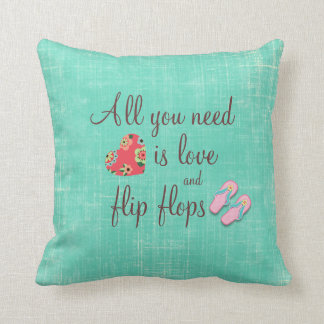 Cita del amor del flip-flop almohada