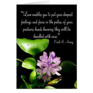 Cita del amor tarjeta de felicitación