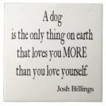 Cita del amor usted mismo del perro de las factura azulejo ceramica