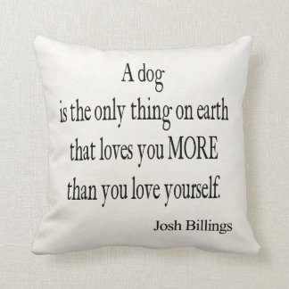 Cita del amor usted mismo del perro de las factura cojin