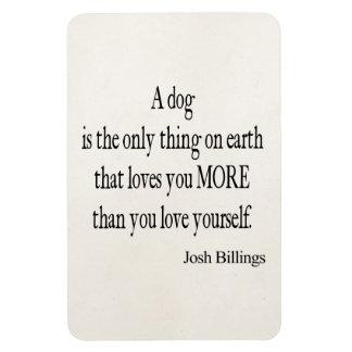 Cita del amor usted mismo del perro de las factura imán