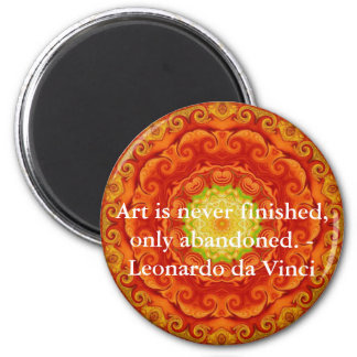 Cita del arte de Leonardo da Vinci Imán Redondo 5 Cm