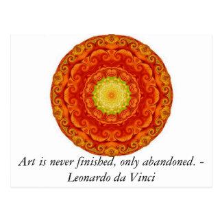Cita del arte de Leonardo da Vinci Tarjeta Postal