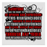 Cita del artículo 19 (color) poster