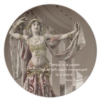 Cita del bailarín de Mata Hari Bellydance Plato De Comida