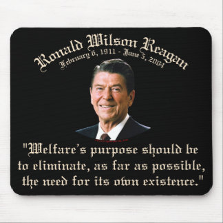 Cita del bienestar de Reagan Tapetes De Raton