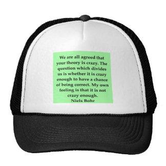 cita del bohr de los neils gorras