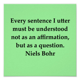 cita del bohr de Niels Póster