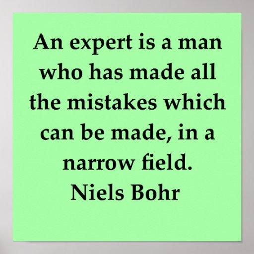 cita del bohr de Niels Posters