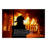 Cita del bombero poster