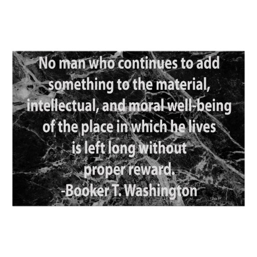 Cita del Booker T. Washington Poster