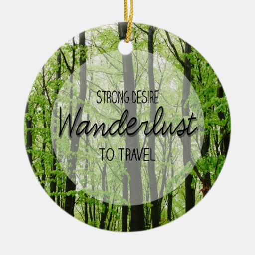 Cita del bosque del Wanderlust Adornos De Navidad