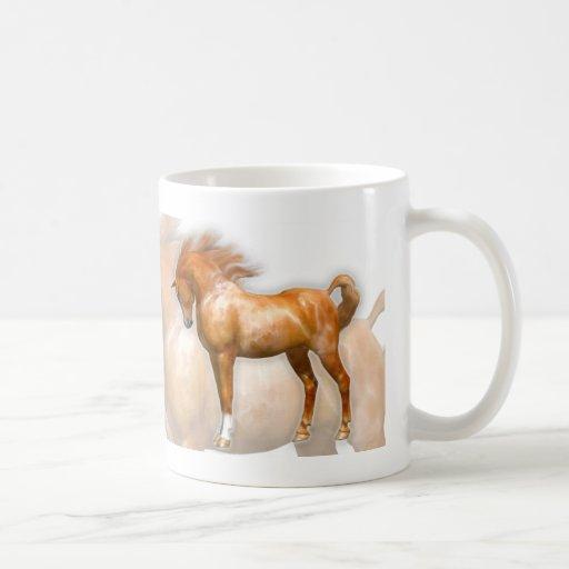 Cita del caballo de sir Winston Churchill Tazas De Café