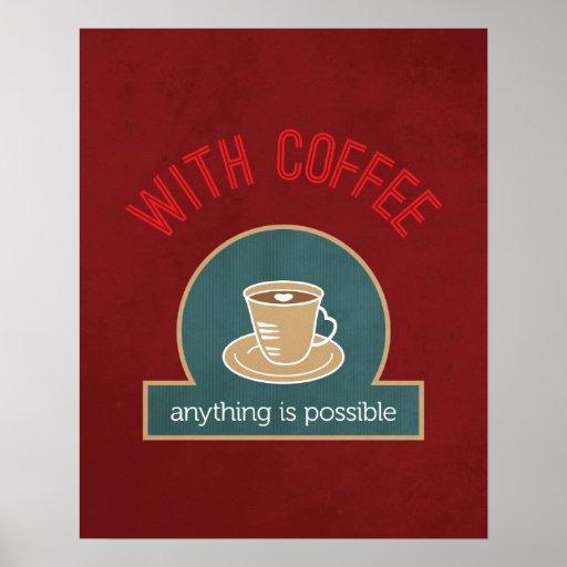Cita del café póster