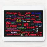 Cita del cambio de Barack Obama Tapetes De Ratones