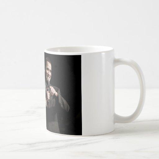 Cita del cambio de Barack Obama Tazas De Café