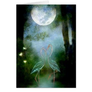 Cita del claro de luna tarjeta de felicitación