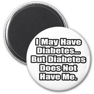 Cita del combatiente de la diabetes imán redondo 5 cm