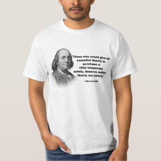 Cita del control de armas de Ben Franklin - la Playera