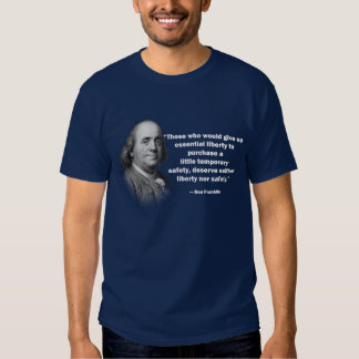 Cita del control de armas de Ben Franklin - la Polera