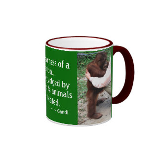 Cita del cuidado animal taza