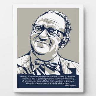 Cita del dinero de Rothbard Placa De Plastico