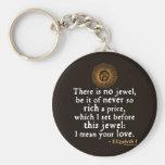 """Cita del """"discurso de oro"""" de Elizabeth I Llavero Personalizado"""