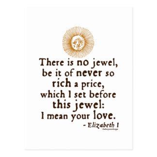 """Cita del """"discurso de oro"""" de Elizabeth I Tarjeta Postal"""