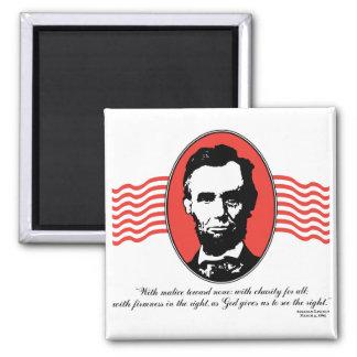 Cita del discurso inaugural de Lincoln segundo Imán Cuadrado