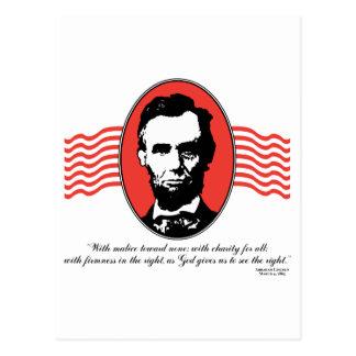 Cita del discurso inaugural de Lincoln segundo Postal