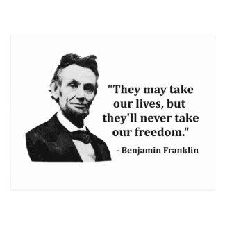 Cita del duende de Abraham Lincoln Postales