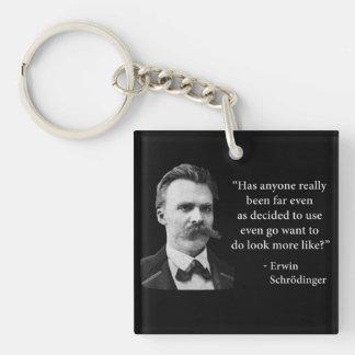 Cita del duende de Friedrich Nietzsche Llavero Cuadrado Acrílico A Doble Cara