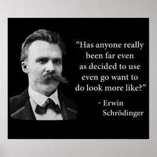 Cita del duende de Friedrich Nietzsche Poster