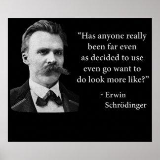 Cita del duende de Friedrich Nietzsche Posters