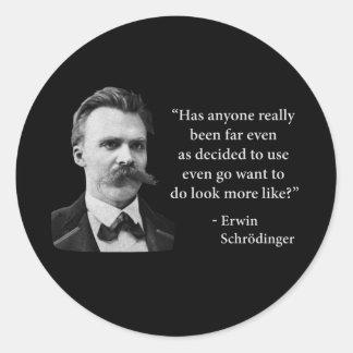 Cita del duende de Friedrich Nietzsche Pegatina Redonda