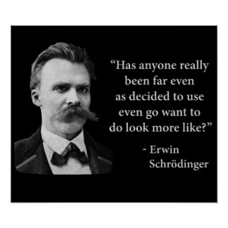 Cita del duende de Friedrich Nietzsche Póster