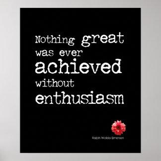 Cita del entusiasmo póster