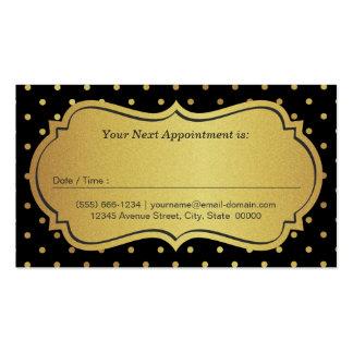 Cita del estilista - puntos negros del brillo del tarjetas de visita