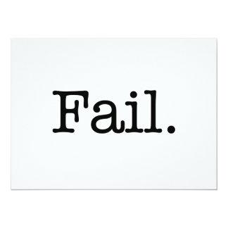 """Cita del fall - fall. Citas del argot Invitación 5.5"""" X 7.5"""""""