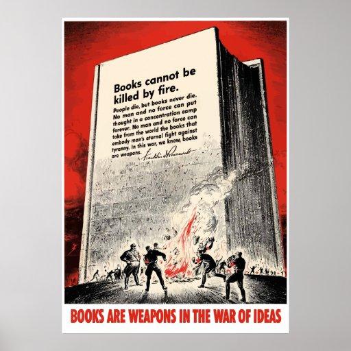 Cita del FDR en el Burning de libro -- Frontera Impresiones