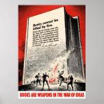 Cita del FDR en el Burning de libro Poster