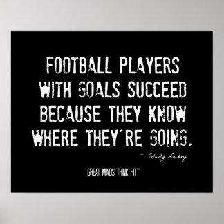 Cita del fútbol para el poster del éxito