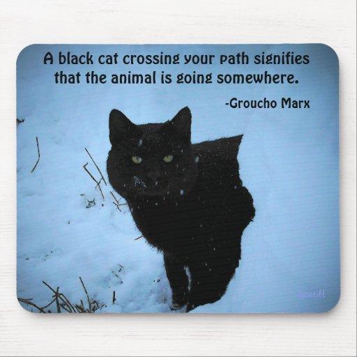 Cita del gato negro por Groucho Tapete De Raton