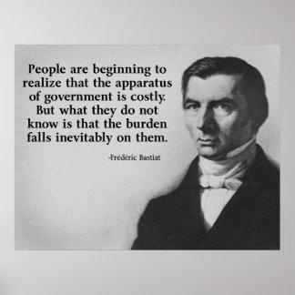 Cita del gobierno de Bastiat Poster